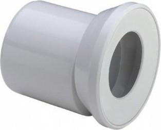 Соединительный белый пластиковый патрубок для унитаза, 255мм Viega 614775