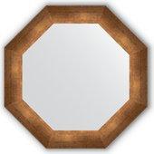 Зеркало Evoform Octagon 526x526 в багетной раме 66мм, состаренная бронза BY 3730