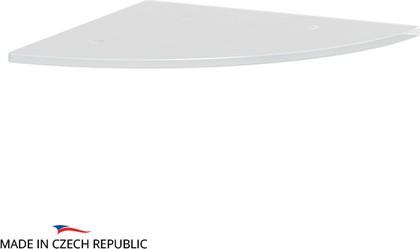 Полка угловая с отверстиями 26см, матовое стекло Ellux ELU 033