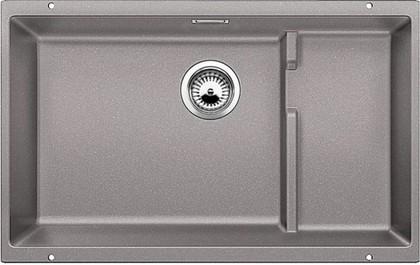 Кухонная мойка без крыла, с клапаном-автоматом, гранит, алюметаллик Blanco Subline 700-U Level 518391