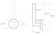 Держатель для туалетной бумаги Bemeta Dark, вертикальный, чёрный 104112030