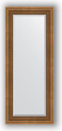 Зеркало с фацетом в багетной раме 57x137см бронзовый акведук 93мм Evoform BY 3518