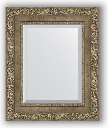 Зеркало с фацетом в багетной раме 45x55см виньетка античная латунь 85мм Evoform BY 3359