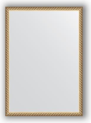 Зеркало 48x68см в багетной раме витая латунь Evoform BY 0634