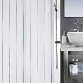 Штора для ванной Spirella Vento, 180x200см, текстиль, серебристый 1011553