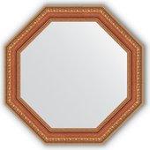 Зеркало Evoform Octagon 516x516 в багетной раме 60мм, бронзовые бусы на дереве BY 3712