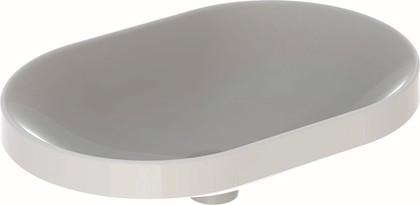 Раковина Geberit VariForm встраиваемая в столешницу, овальная, 60x40см, без отв. под смеситель, без отв. перелива 500.730.01.2
