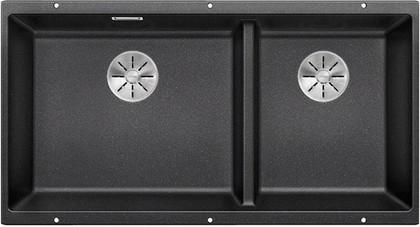 Кухонная мойка Blanco Subline 480/320-U, отводная арматура, антрацит 523584