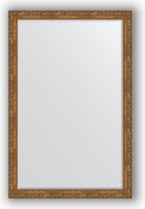 Зеркало 115x175см с фацетом 30мм в багетной раме виньетка бронзовая Evoform BY 1320