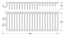 Полочка-решётка для ванной комбинированная, 4х10х28см FBS RYN 024