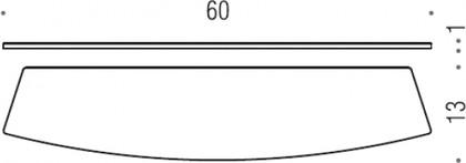 Запасная стеклянная полочка Colombo LAND B2861