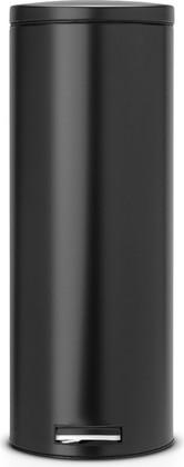 Мусорный бак 20л высокий с педалью, MotionControl, чёрный матовый Brabantia Slim 478567