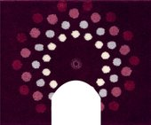 Коврик с вырезом под туалет 50x60см фиолетовый с кристаллами Сваровски Grund Crystal Blossom 3344.06.022