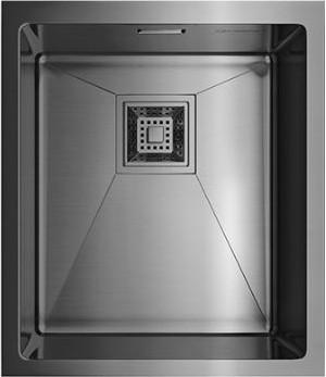 Кухонная мойка без крыла, нержавеющая вороненая сталь Omoikiri Akisame 38-U-GM 4993106