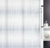 Штора для ванны 180x200см текстильная бело-серая Spirella NOON 1015180