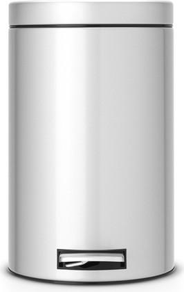 Ведро для мусора с педалью 12л серый металлик Brabantia 214660