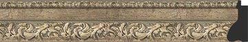 Зеркало с фацетом в багетной раме 55x85см виньетка античное серебро 85мм Evoform BY 3409