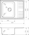 Кухонная мойка Omoikiri Sagami 63-IN-R с крылом, чаша справа, нержавеющая сталь 4993551