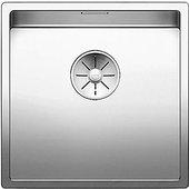 Кухонная мойка Blanco Claron 400-U, отводная арматура, полированная сталь 521573