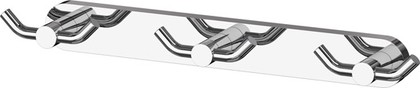 Планка с тремя двойными крючками хром ArtWelle HAR 009