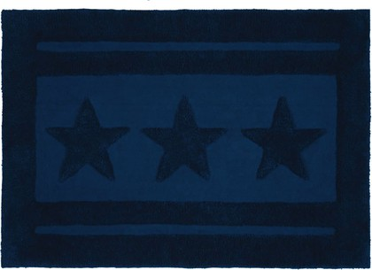 Коврик для ванной комнаты хлопковый 60x90см синий Spirella Emily Star 1017656