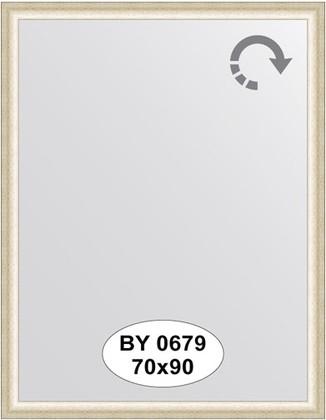 Зеркало 70x90см в багетной раме старое серебро Evoform BY 0679
