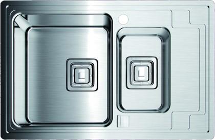 Кухонная мойка крыло справа, нержавеющая сталь матовой полировки Omoikiri Mizu 78-2-L 4993012