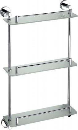Полка для ванной, тройная стеклянная 620мм Bemeta Omega 104202132