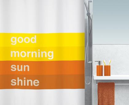 Штора для ванны 180x200см текстильная оранжевая Spirella GOOD MORNING 1016734