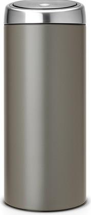 Ведро для мусора 30л платиновое Brabantia Touch Bin 399664