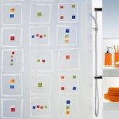 Штора для ванной Spirella Linus, 180x200см, полиэтилен, мультиколор 1040835