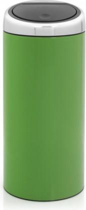 Ведро для мусора 30л зелёное Brabantia TOUCH BIN 480980