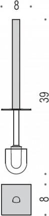 Ёршик с ручкой для колбы Colombo LULU B6258