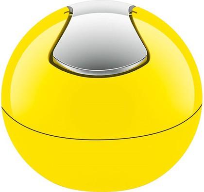 Ведро настольное 1л жёлтое Spirella BOWL-SHINY 1014965