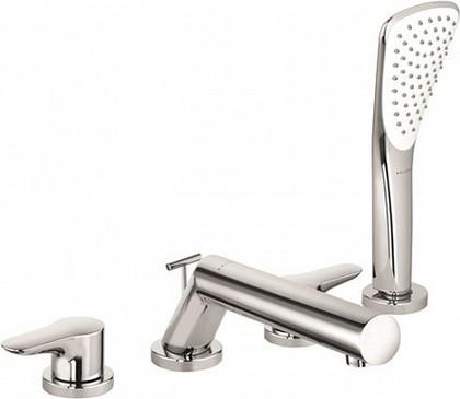 Смеситель c душевой лейкой вентильный на бортик ванны, хром Kludi OBJEKTA 324250575