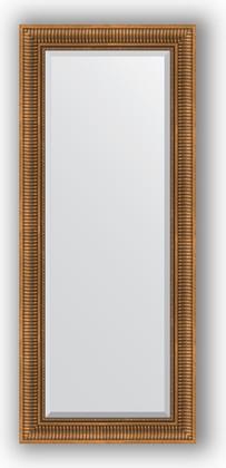 Зеркало с фацетом в багетной раме 62x147см бронзовый акведук 93мм Evoform BY 3544