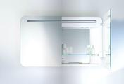 Зеркальный шкаф 100x62см с подсветкой двухдверный Duravit PuraVida 942585