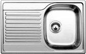 Кухонная мойка оборачиваемая с крылом, нержавеющая сталь матовой полировки Blanco Tipo 45 S Compact 513441