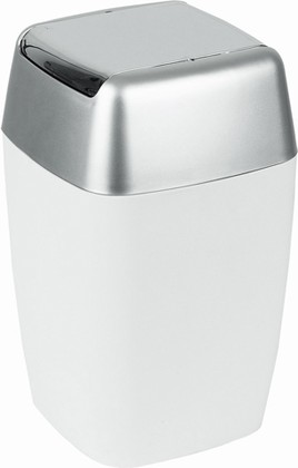 Ведро для мусора 7л белое Spirella Retro 1008138