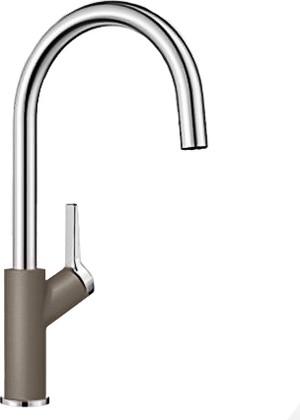 Смеситель кухонный однорычажный с высоким изливом, серый беж Blanco CARENA 520978