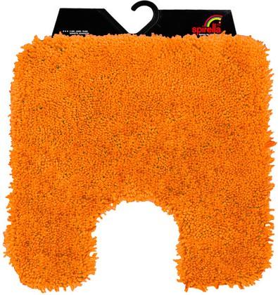 Коврик для туалета 55x55см оранжевый Spirella HIGHLAND 1013067