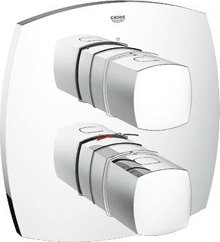 Термостат для душа встраиваемый без встраиваемого механизма и без подключения шланга, хром Grohe GRANDERA 19934000