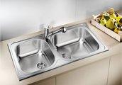 Кухонная мойка оборачиваемая без крыла, нержавеющая сталь полированная Blanco Tipo XL 9 511926