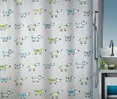 Штора для ванной Spirella Doggi, 180x200см, полиэтилен, серый 1016747