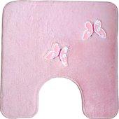 Коврик для туалета Kleine Wolke Butterfly, 55x55см, розовый 5433 129 443