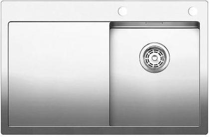 Кухонная мойка чаша справа, крыло слева, с клапаном-автоматом, нержавеющая сталь зеркальной полировки Blanco Claron 4 S-IF/А 513997