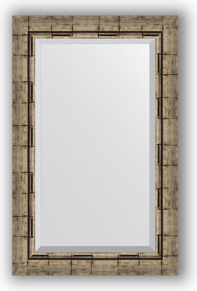 Зеркало 53x83см с фацетом 30мм в багетной раме старый бамбук Evoform BY 1136