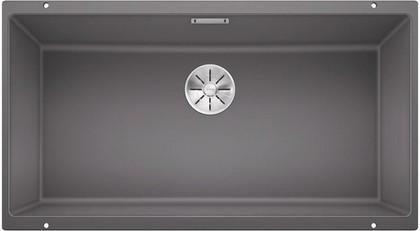 Кухонная мойка Blanco Subline 800-U, отводная арматура, тёмная скала 523142
