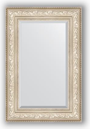 Зеркало с фацетом в багетной раме 60x90см виньетка серебро 109мм Evoform BY 3426