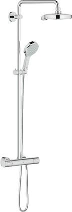 Душевая система с термостатом для настенного монтажа, хром Grohe POWER&SOUL Cosmopolitan System 190 27903000